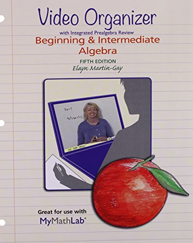 9780134196466: Worksheets for Beginning & Intermediate Algebra with Integrated Review