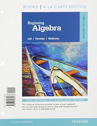 9780134197357: Beginning Algebra, Books a la Carte Edition, Plus MyMathLab -- Access Card Package, 12/e (12th Edition)