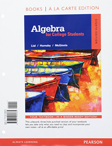 9780134197364: Algebra for College Students a la Carte - Access Card Package (8th Edition)