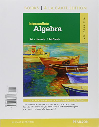 9780134197371: Intermediate Algebra, Books a la Carte Edition, Plus MyLab Math -- Access Card Package (12th Edition)