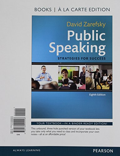 9780134202228: Public Speaking: Strategies for Success, Books a la Carte Edition (8th Edition)