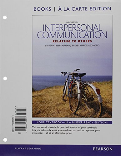 9780134204215: Interpersonal Communication: Relating to Others, Books a la Carte Edition (8th Edition)