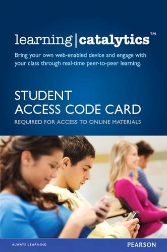 9780134205502: Learning Catalytics -- Access Card