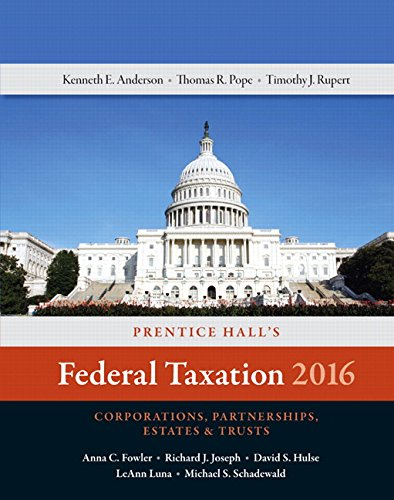 Prentice Hall's Federal Taxation 2016 Corporations, Partnerships, Estates & Trusts Plus ...