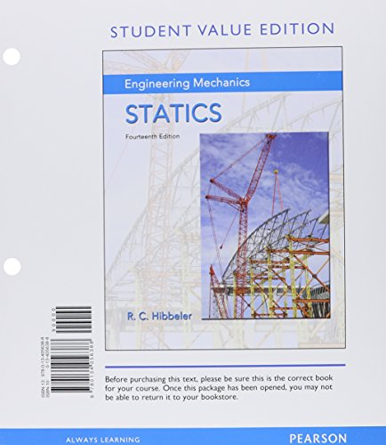 9780134209296: Engineering Mechanics: Statics, Student Value Edition Plus Mastering Engineering with Pearson eText -- Access Card Package (14th Edition)