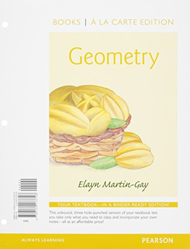 9780134216393: Geometry, Books a la Carte Edition Plus MyLab Math with Pearson eText -- Access Card Package