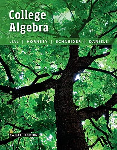9780134217451: College Algebra (12th Edition)