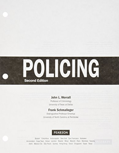 9780134218991: Policing (Justice Series), Student Value Edition with MyLab Criminal Justice with Pearson eText -- Access Card Package (2nd Edition)