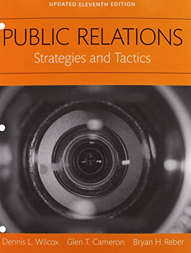 9780134224077: REVEL for Public Relations: Strategies and Tactics Books a la Carte Edition Plus REVEL - Access Card Package (11th Edition)