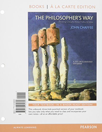 9780134224893: The Philosopher's Way: Thinking Critically about Profound Ideas, Books a la Carte Plus Revel -- Access Card Package