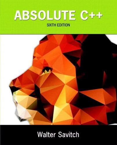 9780134225395: Absolute C++ plus MyLab Programming with Pearson eText -- Access Card Package (6th Edition)