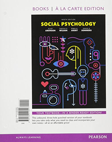 9780134225524: Social Psychology, Books a la Carte Plus NEW MyLab Psychology -- Access Card Package (9th Edition)
