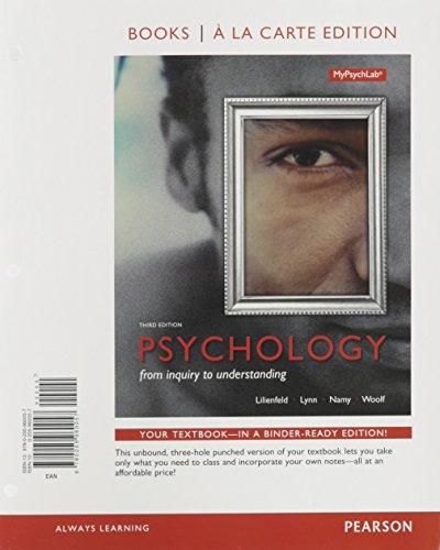 9780134225647: Psychology: From Inquiry to Understanding, Books a la Carte Edition plus REVEL -- Access Card Package (3rd Edition)