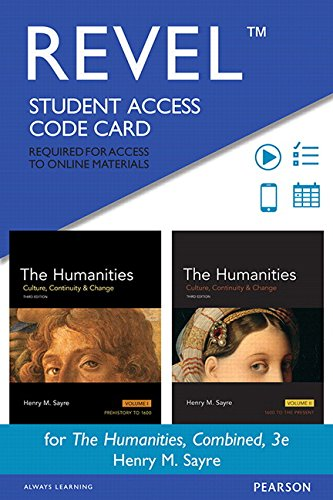 REVEL for Humanities, The, Combined -- Access Card (3rd Edition): Henry M. Sayre