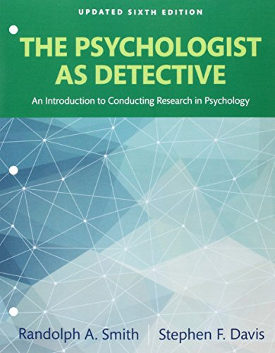 9780134225739: REVEL for The Psychologist as Detective: An Introduction to Conducting Research in Psychology Books a la Carte Edition Plus REVEL -- Access Card Package