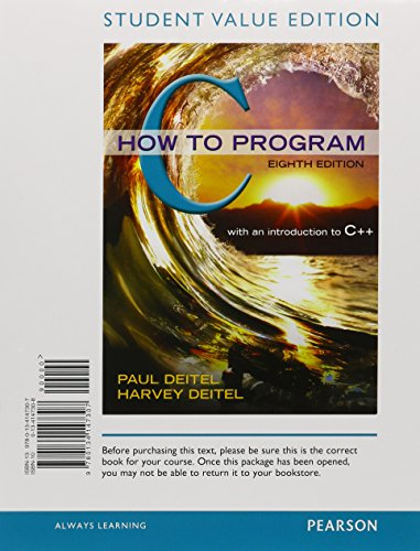9780134227436: C How to Program, Student Value Edition plus MyLab Programming with Pearson eText -- Access Card Package (8th Edition)