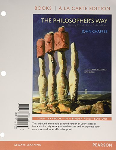 9780134228273: The Philosopher's Way: Thinking Critically About Profound Ideas, Books a la Carte Edition Plus NEW MyPhilosophy Lab for Introduction to Philosophy -- Access Card Package (5th Edition)