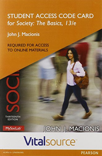 9780134228709: VitalSource Edition for Society: The Basics -- Access Card (13th Edition)