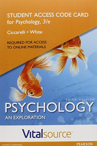 9780134228761: VitalSource Edition for Psychology: An Exploration -- Access Card (3rd Edition)