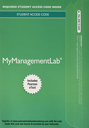 MyManagementLab with Pearson eText -- Access Card: Dessler, Gary