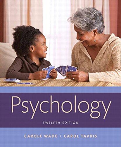 9780134240831: Wade: Psychology_12 (12th Edition)