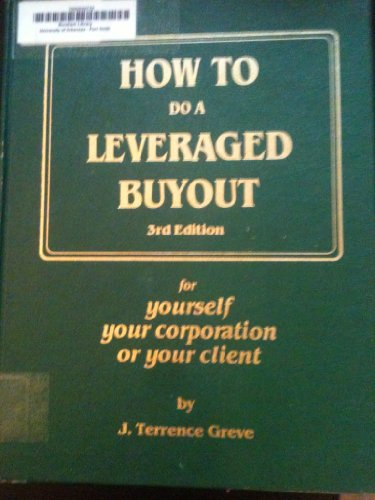 9780134243429: How to Do a Leveraged Buyout