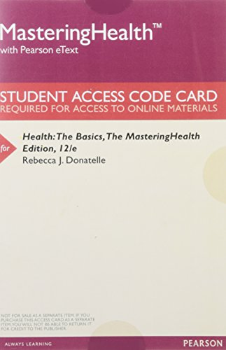 9780134245683: MasteringHealth with Pearson eText -- ValuePack Access Card -- for Health: The Basics, The MasteringHealth Edition