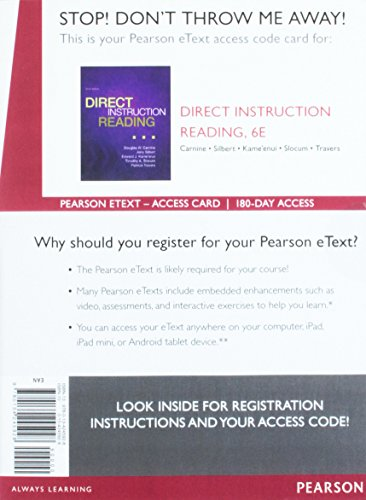 9780134245928: Direct Instruction Reading, Enhanced Pearson eText -- Access Card (6th Edition)