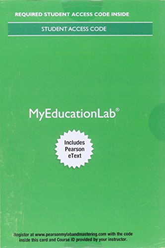 9780134253855: MyLab Education with Pearson eText -- Access Card -- for Educational Psychology (13th Edition)