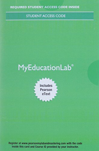9780134253893: MyLab Education with Pearson eText -- Access Card -- for Educational Research: Competencies for Analysis and Applications (11th Edition)