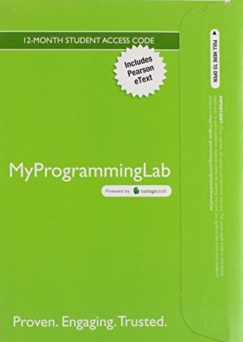 9780134254005: MyLab Programming with Pearson eText -- Access Code Card -- for Absolute C++