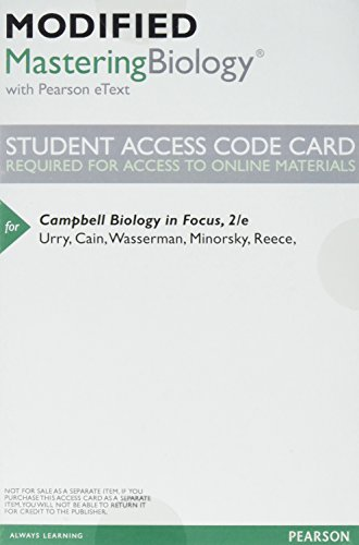 9780134256399: Modified MasteringBiology with Pearson eText -- Valuepack Access Card -- for Campbell Biology in Focus