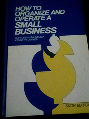 9780134256948: How to Organize and Operate a Small Business