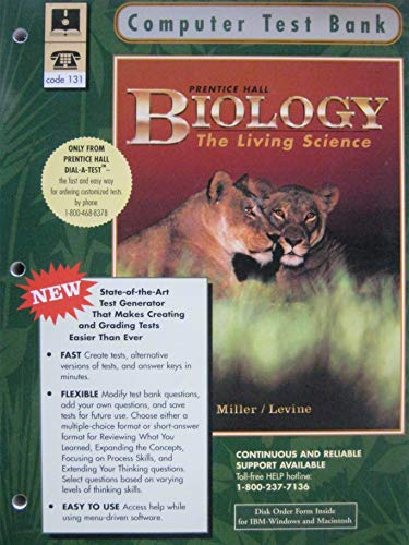 9780134260082: Computer Test Bank: Biology the Living Science