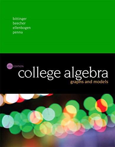 College Algebra: Graphs and Models Plus MyMathLab with Pearson eText -- Access Card Package (6th ...