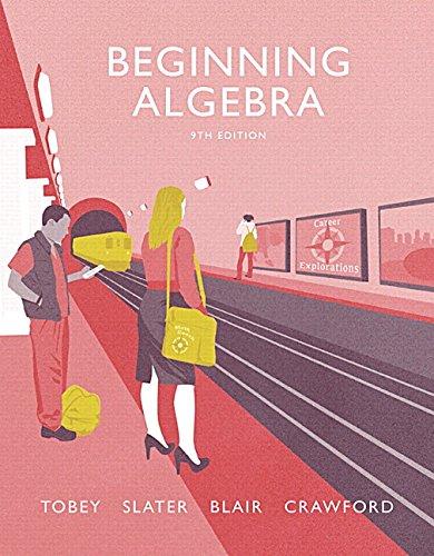 9780134266374: Beginning Algebra (Tobey Developmental Math Paperback)