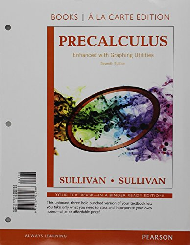 9780134268231: Precalculus Enhanced with Graphing Utilities, Books a la Carte Edition Plus NEW MyLab Math -- Access Card Package (7th Edition)