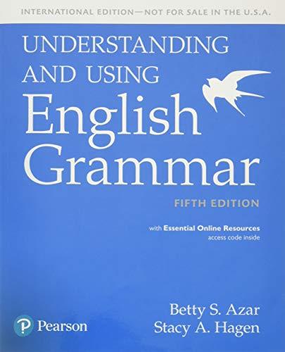 9780134275253 Understanding And Using English Grammar Student Book
