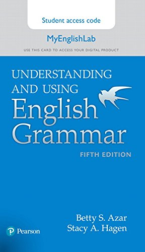 9780134275420: Understanding and Using English Grammar, MyLab English Access Code Card