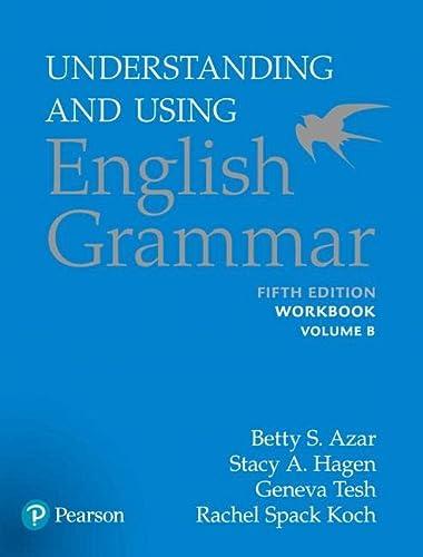 9780134276274: Understanding and Using English Grammar, Workbook Split B