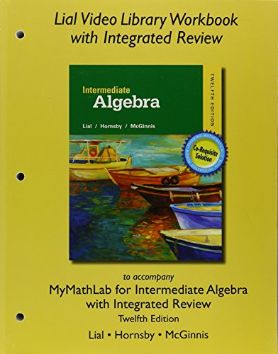 9780134280929: Worksheets for Integrated Review for Intermediate Algebra with Integrated Review