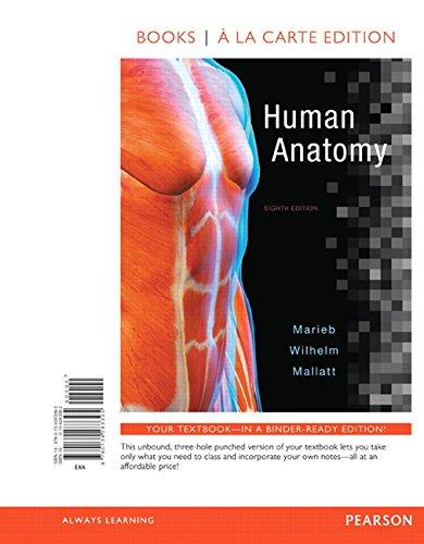 9780134283395: Human Anatomy, Books a la Carte Edition (8th Edition)