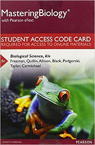 9780134283463: Mastering Biology with Pearson eText -- Standalone Access Card -- for Biological Science (6th Edition)