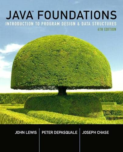 9780134285436: Java Foundations: Introduction to Program Design and Data Structures (4th Edition)