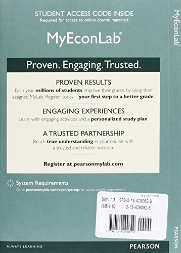 9780134290829: MyLab Economics with Pearson eText -- Access Card -- for Economics: Principles, Applications and Tools