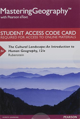 9780134297125: Mastering Geography with Pearson eText -- Standalone Access Card -- for The Cultural Landscape: An Introduction to Human Geography (12th Edition)