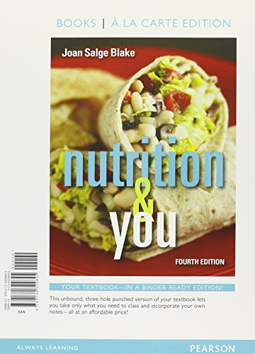 9780134297637: Nutrition & You, Books a la Carte Plus MasteringNutrition with MyDietAnalysis with Pearson eText -- Access Card Package (4th Edition)