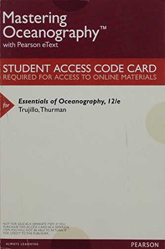 Alan trujillo abebooks masteringoceanography with pearson etext valuepack access alan p trujillo fandeluxe Image collections