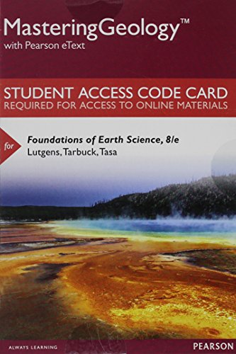 9780134298184: Mastering Geology with Pearson eText -- Standalone Access Card - for Foundations of Earth Science (8th Edition)
