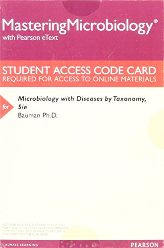 9780134298719: MasteringMicrobiology with Pearson eText -- ValuePack Access Card -- for Microbiology with Diseases by Taxonomy